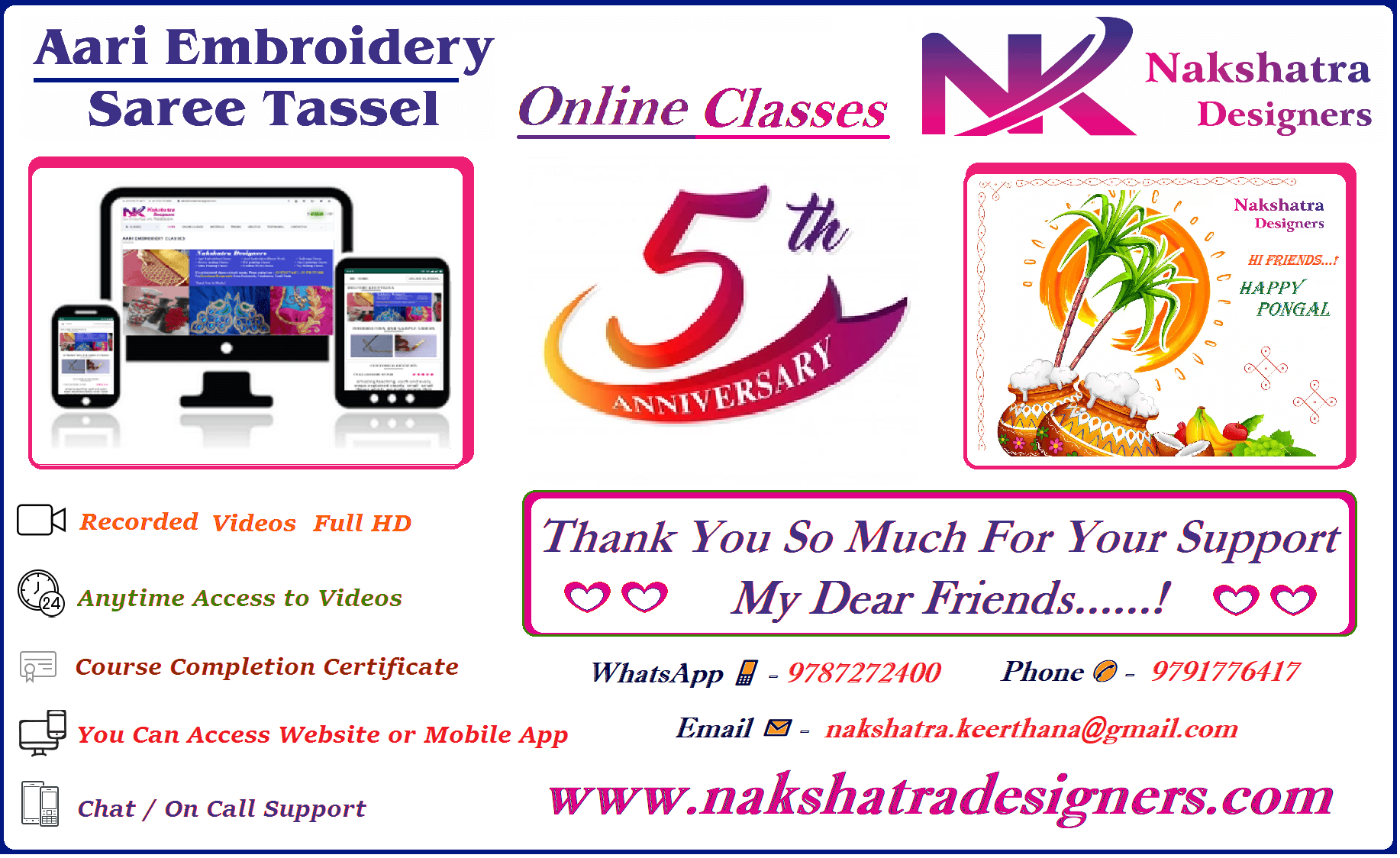 Aari Embroidery Online Classes Nakshatra Designers